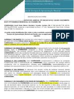 25 de Agosto Curitiba Sarah Farias Contrato