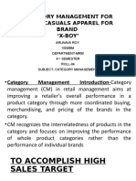 Category Management for Mens' Casuals Apparel For