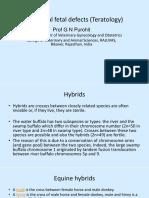 Vet Obst Lecture 4 Congenital Fetal Defects (Teratology)