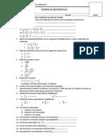 EXAMEN DE MATEMÁTICAS 2°