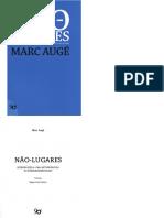 AUGE, M. Não Lugares, Uma Introdução a Antropologia Da Supermodernidade