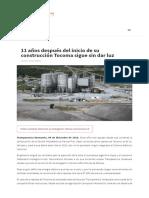 11 Años Después Del Inicio de Su Construcción Tocoma Sigue Sin Dar Luz _ Transparencia Venezuela