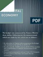 Budget for Digital Economy