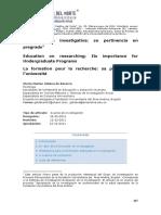 2012 La Formación Investigativa Su Pertinencia en Pregrado - Copia