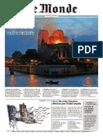 _le Monde_ Incendio NOtre Dame