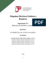 Guía N°1 de Laboratorio de Máquinas Eléctricas Estáticas y Rotativas