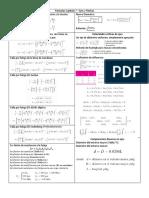 Fórmulas - Cap 7, 10, 11