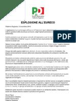 Comunicato Stampa PD Paderno Dugnano - 5 Novembre 2010 - Esplosione Eureco