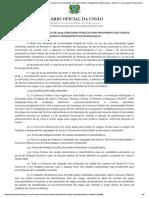 EDITAL Nº 7, DE 24 DE MAIO DE 2019 CONCURSO PÚBLICO PARA PROVIMENTO DE CARGOS TÉCNICO-ADMINISTRATIVO EM EDUCAÇAO - EDITAL Nº 7, DE 24 DE MAIO DE 2019 CONCURSO PÚBLICO PARA PROVIMENTO DE CARGOS TÉCNICO-ADMINISTRATIVO EM EDUCAÇA.pdf