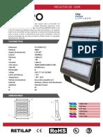 Ficha Tcnica - Reflector Led Dxpro - 300w