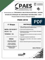 PROVA PAES 2018 1ª ETAPA.pdf