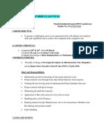 Shailendra Resume