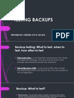 Testing backups