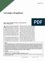 Isaacson, Lindauer, Rubenstein [1993] Activating a 2×4 appliance