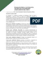 Pacto Ciudadano Por La Naturaleza 2019- Fuentedeoro -Meta