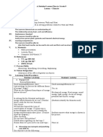 Lesson Plan for Observation a Detailed Lesson Plan in Grade 9