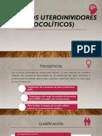 Fármacos uteroinividores (tocolíticos)