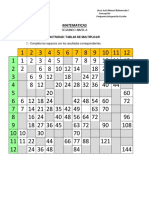 Ejercicios de Multipplicacion Primer Nivel
