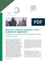Mejora de La Eficiencia Energetica y Costes en Plantas de Cogeneracion