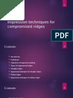 Impression in Compromised Ridges