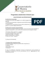 01-Jazz Triennio Ordinamentale Esame Di Ammissione