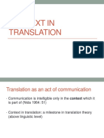 Context in Translation