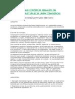 Compensaciones Económicas Derivadas Del Divorcio y La Ruptura de La Unión Convivencial-breves Conceptos