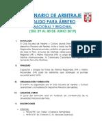 Seminario de Arbitraje Piura 29 y 30 Junio 2019- Válido para AN y AR