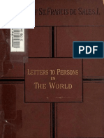 Letters to Persons ~~ by Saint Francis de Sales ~~