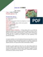 Formato Para Presentación de Muestras de Mineral
