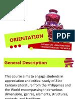 21st Century - Orientation