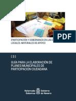GUÍA PARA LA ELABORACIÓN DE PLANES MUNICIPALES DE PARTICIPACIÓN CIUDADANA