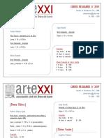Artexxi - Cursos Regulares Junio 2019