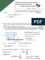Examen de Mejoramiento de Fisica B Segundo Termino 2005