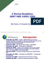 ABNT NBR 16001 - Seminario Programa Brasileiro de Certificacao
