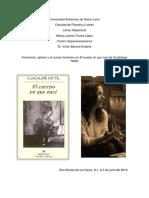 Feminismo, género y el cuerpo femenino en El cuerpo en que nací de Guadalupe Nettel.