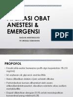 Aplikasi Obat Anestesi _ Emergensi
