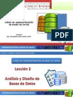 BD1 Leccion2 Analisis y Diseño de Bases de Datos
