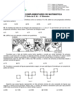 Exercícios Complementares de Matemática 1ª Série Do e. m. 4º Bimestre