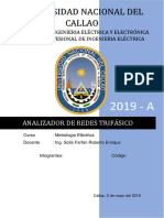 analizador de redes trifasicas UNAC FIEE