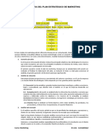 Estructura Del Plan Estrategico de MKT