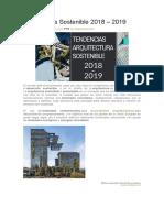 Arquitectura Sostenible 2018-2019