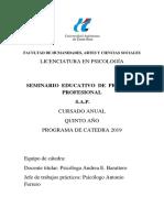 Programa Seminario Educativo 2019