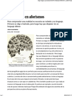 ARTICULO WAGENSBERG El Lenguaje en Aforismos _ Babelia _ EL PAÍS
