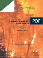Estadistica Incendios Forestales Período 2015-16
