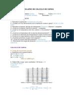Formulario de Cálculo de Carga
