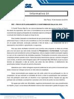 2019 Informativo_01 Entregáveis1
