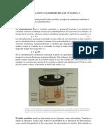Determinación Culombimétrica de Vitamina