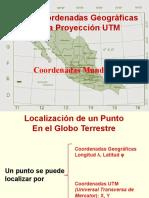 Coordenadas Geográficas y La Proyección Utm Cbtis133