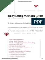 Ruby String Methods (Ultimate Guide) - RubyGuides